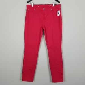 GAP True Skinny Coral Mid Rise Jeans A1606